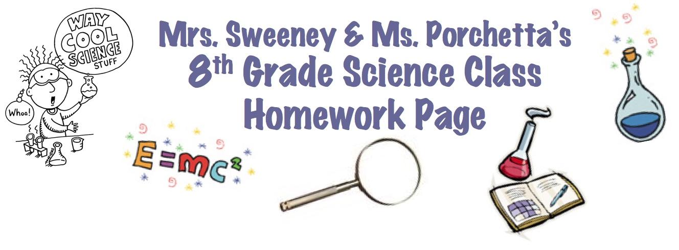 Science homework help 8th grade