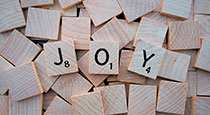 Joy in scrabble letters